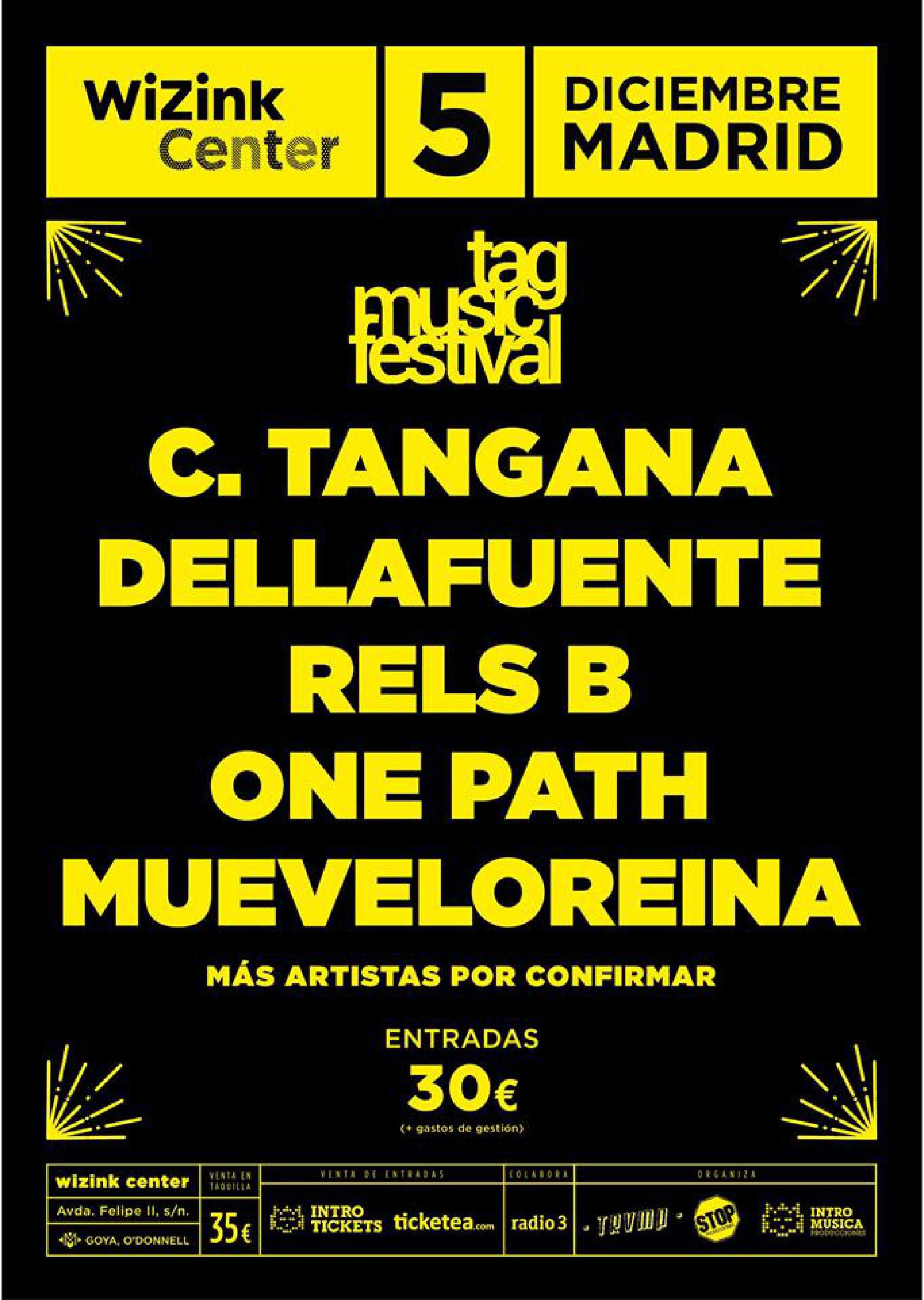 Cartel del TAG Music Festival de Madrid