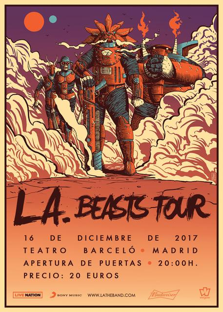 L.A. madrid beasts tour teatro barceló