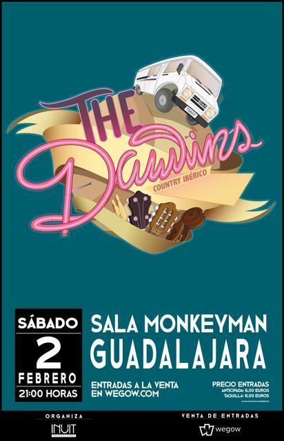 Cartel del concierto en la sala MonkeyMan