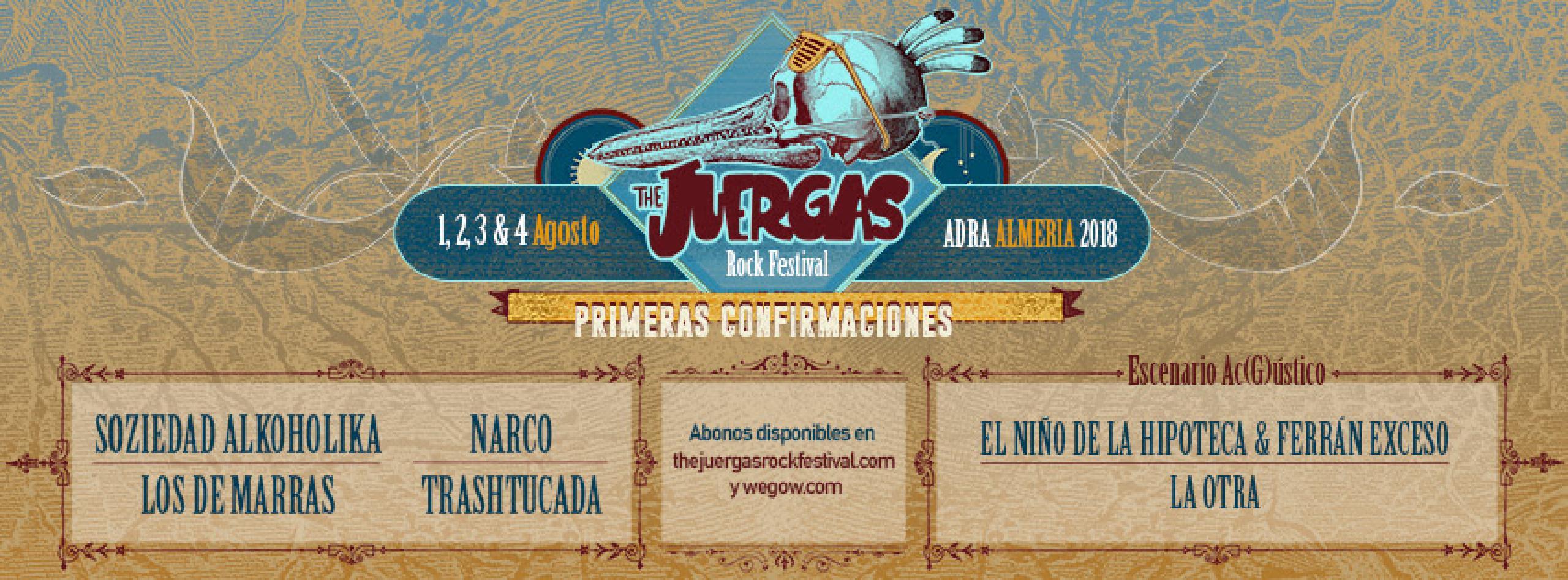 Cartel primeras confirmaciones The Juerga's Rock Fest
