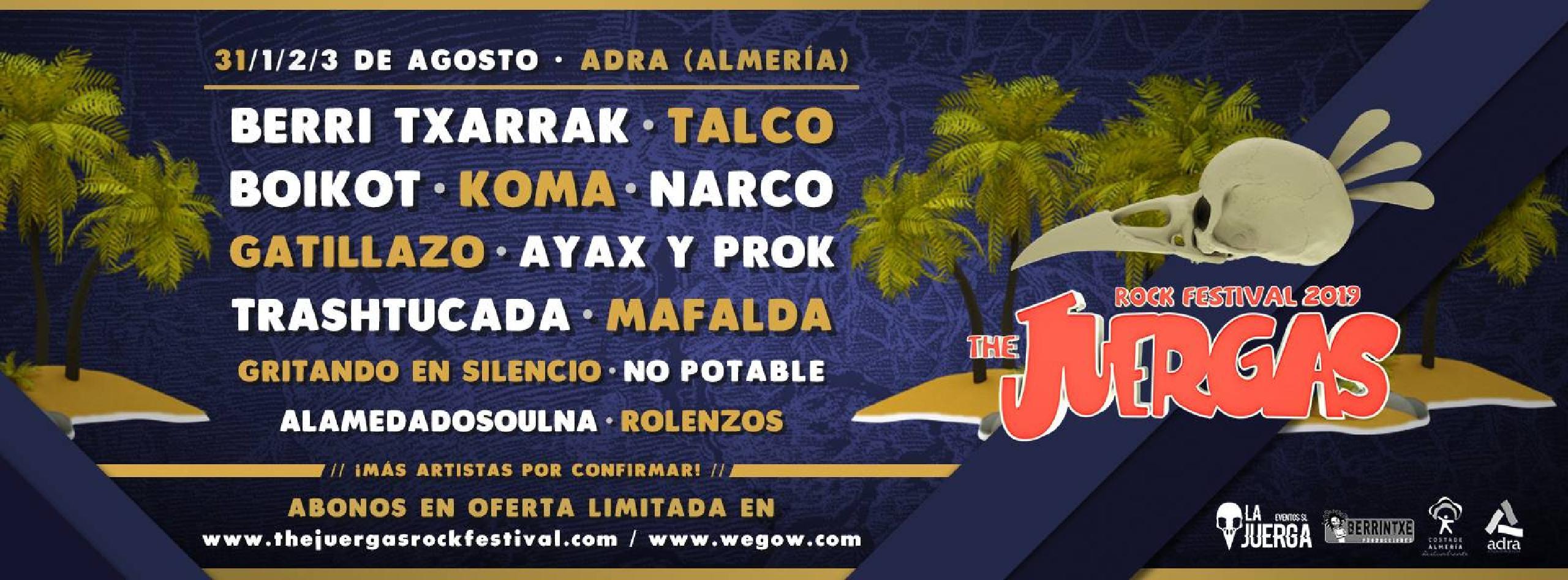 Cartel confirmaciones festival Juergas 2019