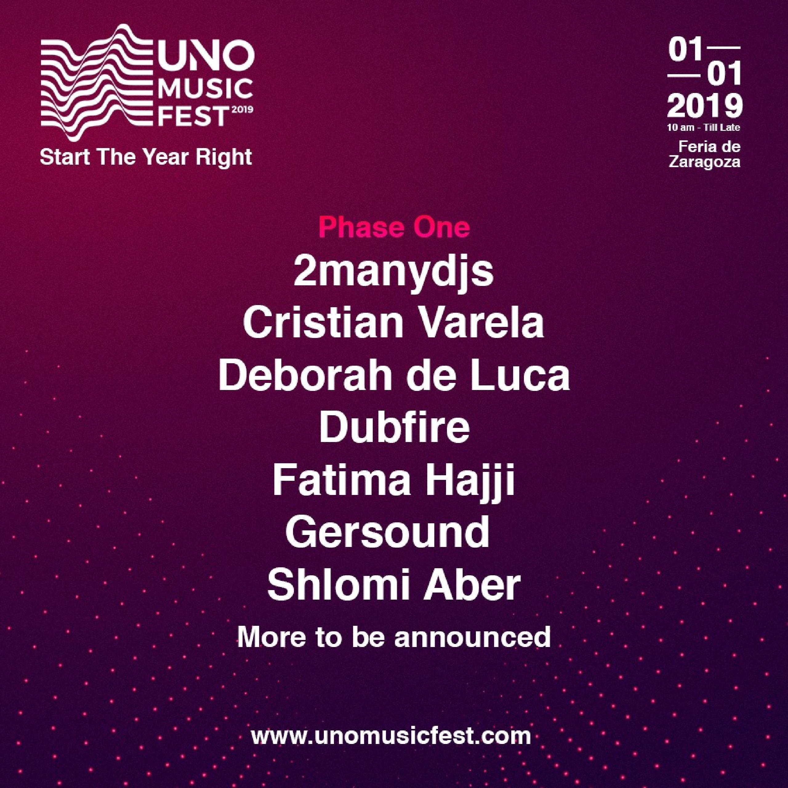 Cartel, confirmaciones, line-up Uno Music Fest 2019