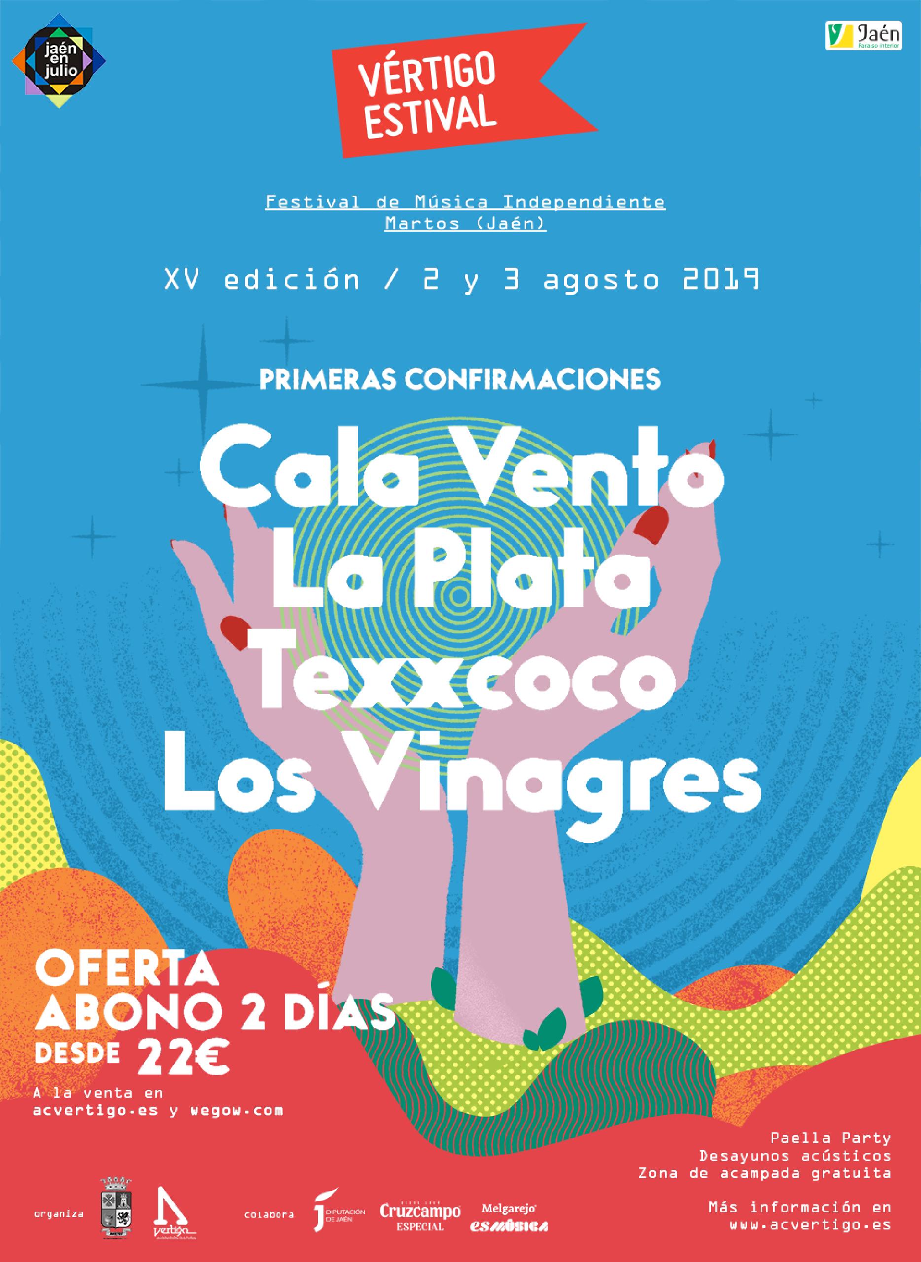 Cartel confirmaciones Vértigo Estival 2019