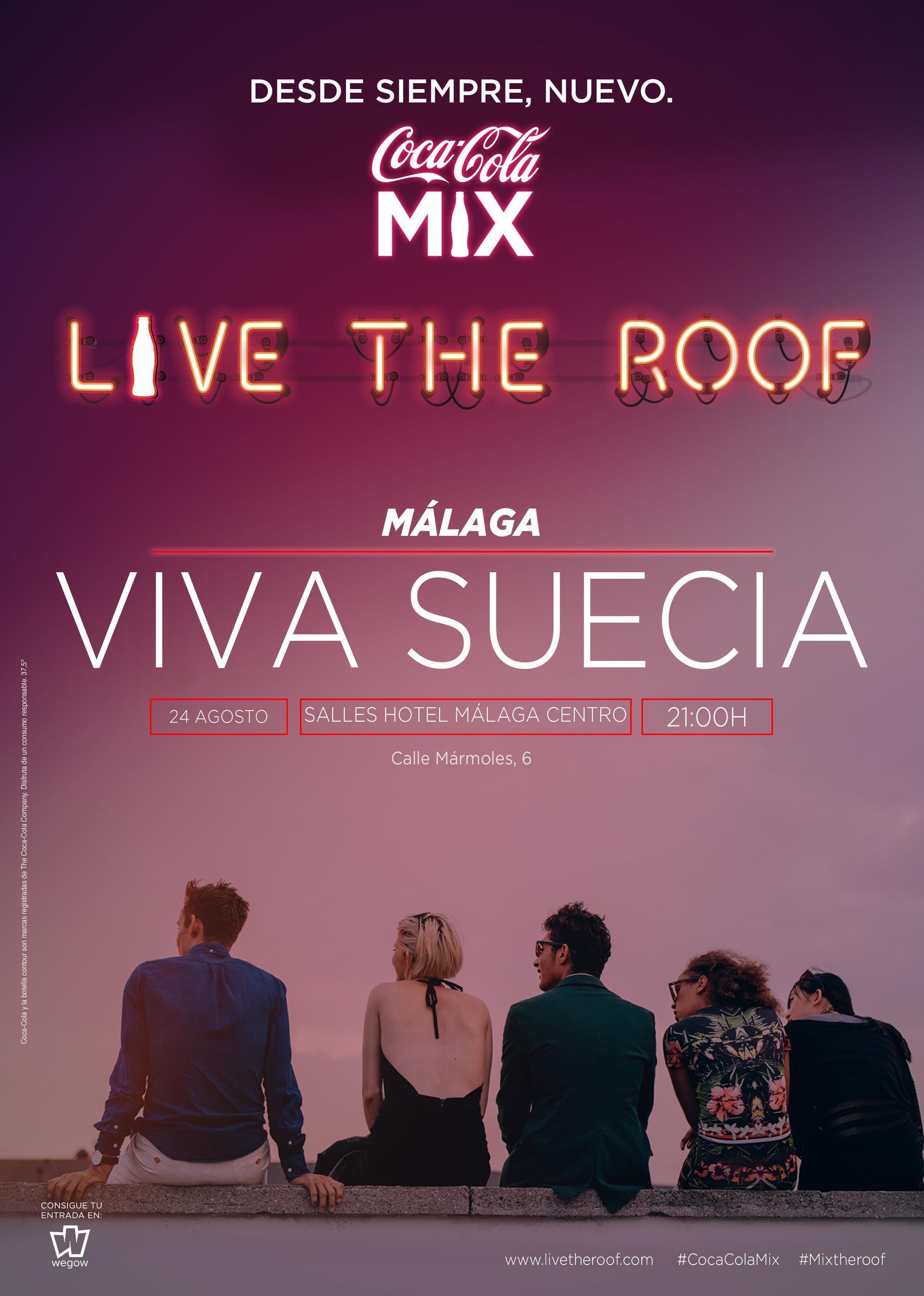 Viva Suecia en LIVE THE ROOF | Málaga