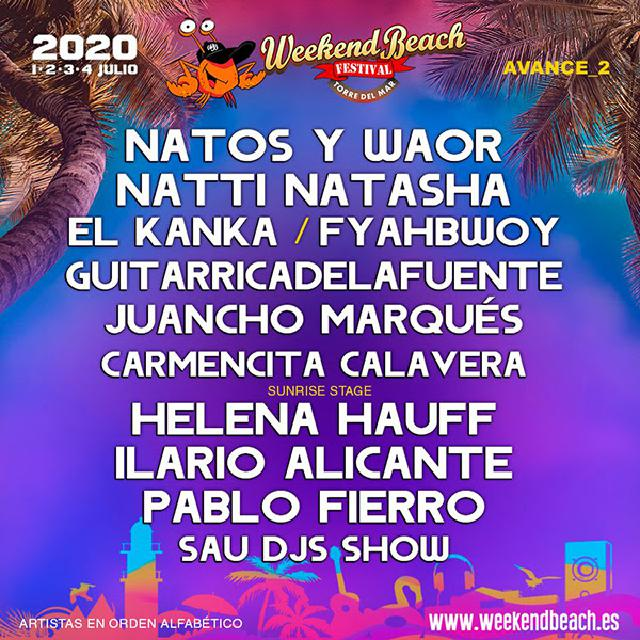 Cartel del Weekend Beach 2020