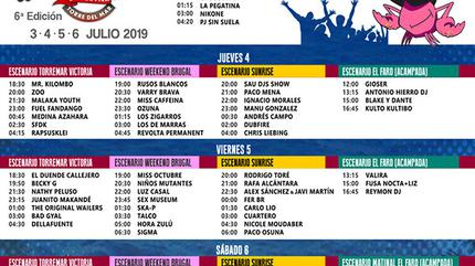 Horarios Weekend Beach 2019