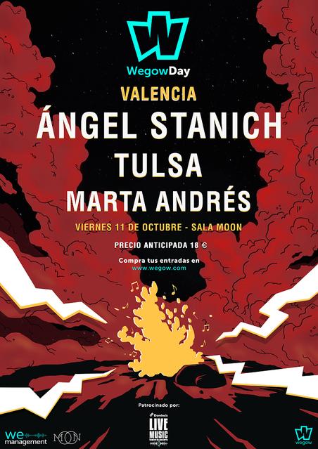 Ángel Stanich, Tulsa y Marta Andrés en la sala Moon de Valencia.