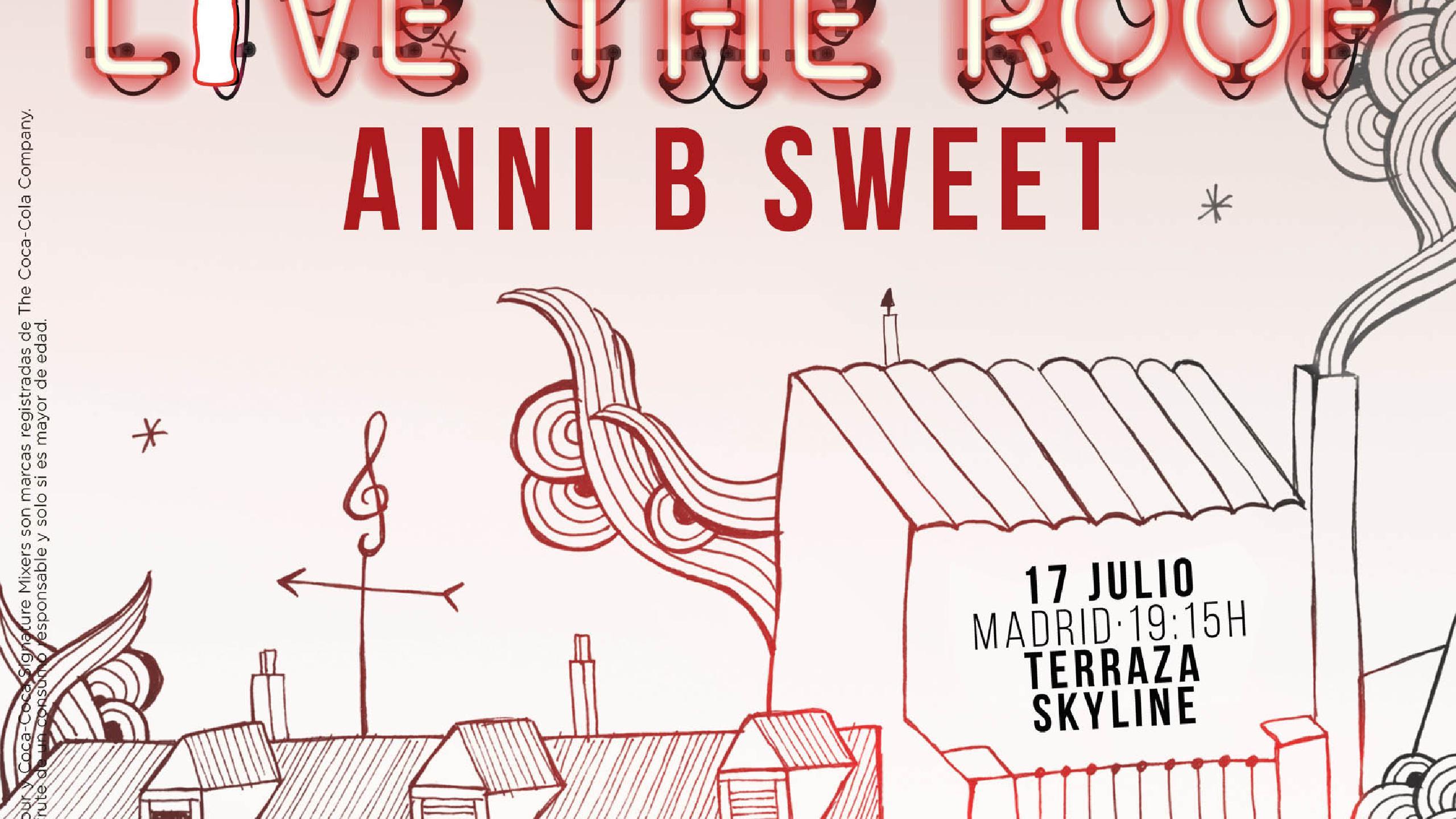 Anni B Sweet Concert Tickets For Terraza Skyline Madrid