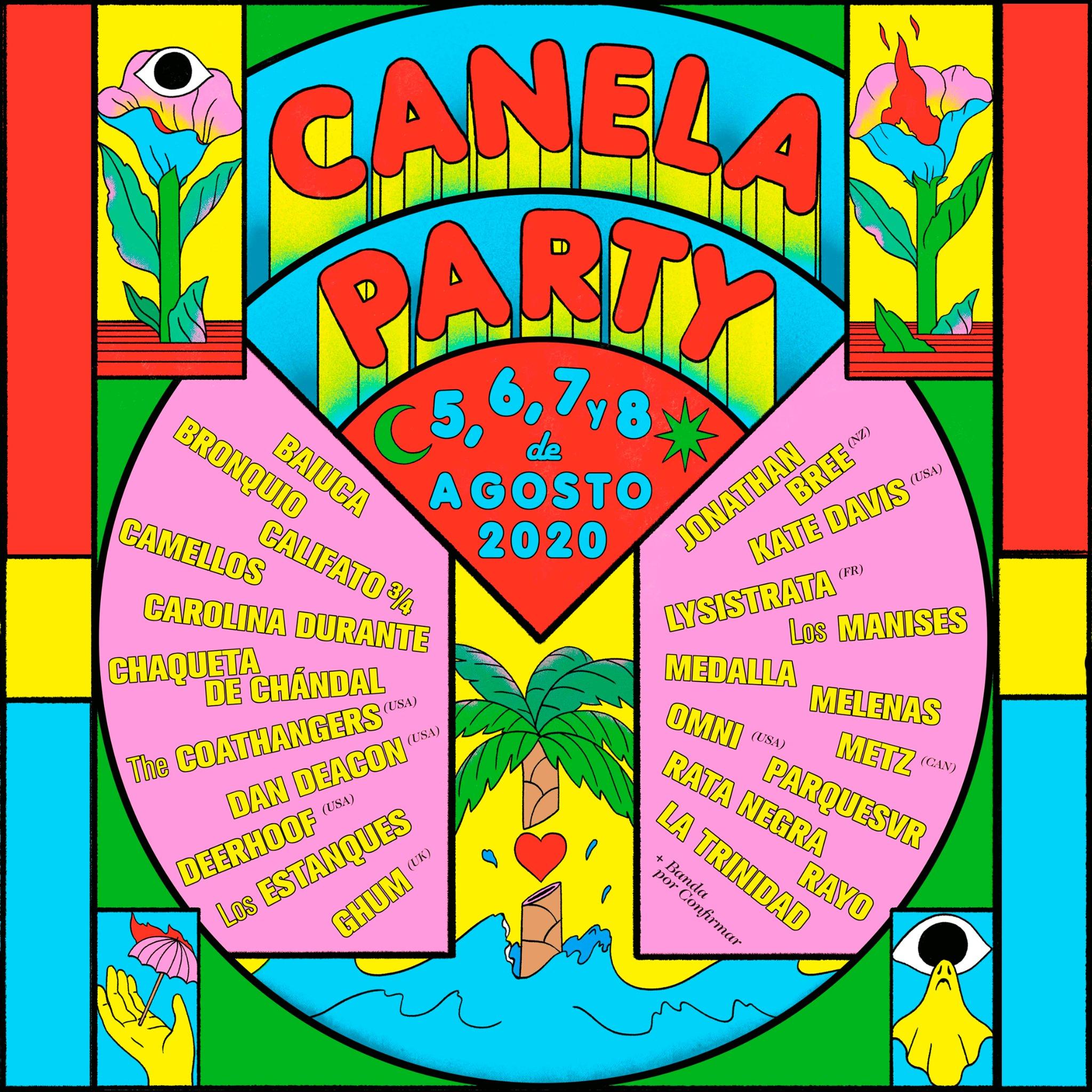 CANELA PARTY 2020 - Metz, Carolina Durante, Camellos, Omni, Dan Deacon, Medalla... (Málaga, 5-8 Agosto) Canelaparty-2020-1576511888.160301