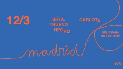 Carlota + Srta. Trueno Negro concert in Madrid