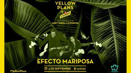 Concierto de Efecto Mariposa en Yellow Plans by Schweppes 2019
