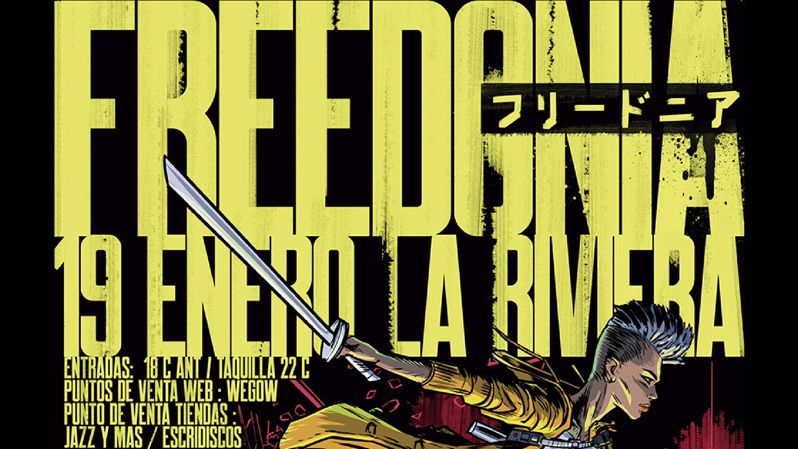 Entradas de concierto de freedonia en madrid la riviera for Conciertos jazz madrid