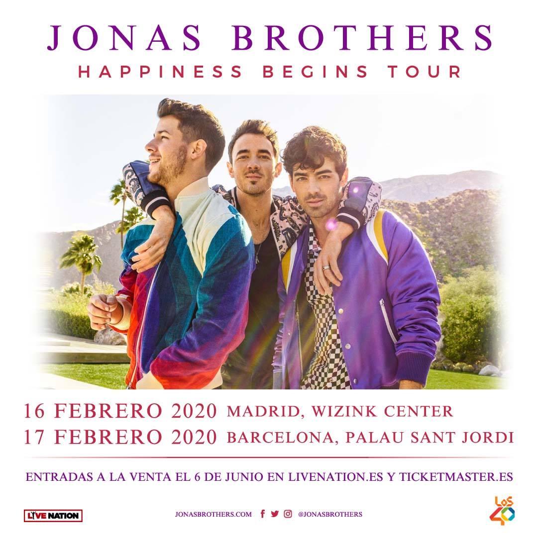 El Komander Tour 2020 Jonas Brothers concert tickets for WiZink Center, Madrid Sunday
