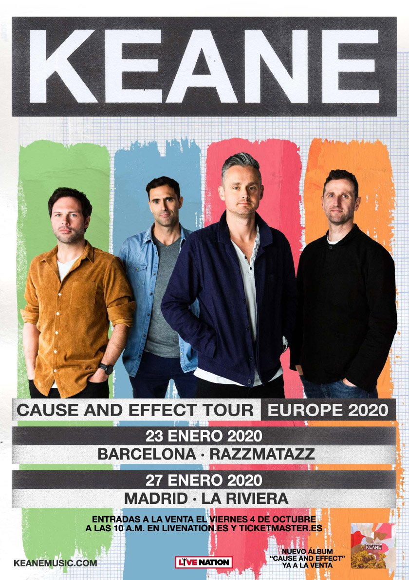 Keane concert in Madrid