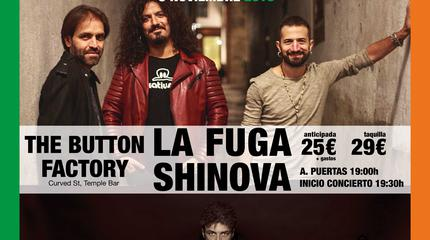 CONCIERTO DE LA FUGA + SHINOVA EN DUBLIN
