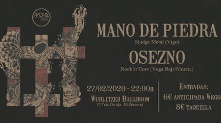 Concierto de Mano de Piedra + OseznO en Madrid