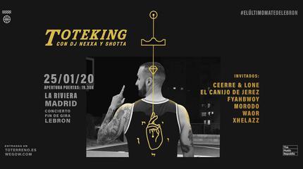 Concierto de TOTEKING en Madrid, La Riviera