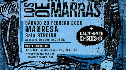Concierto Los de Marras en la sala Stroika (Manresa)