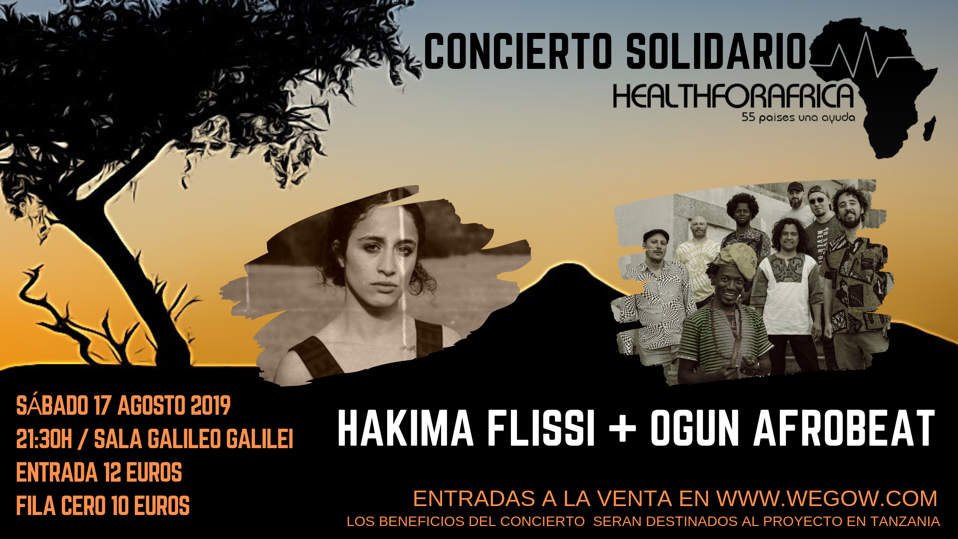 Ogun Afrobeat, Hakima Flissi concert tickets for Sala