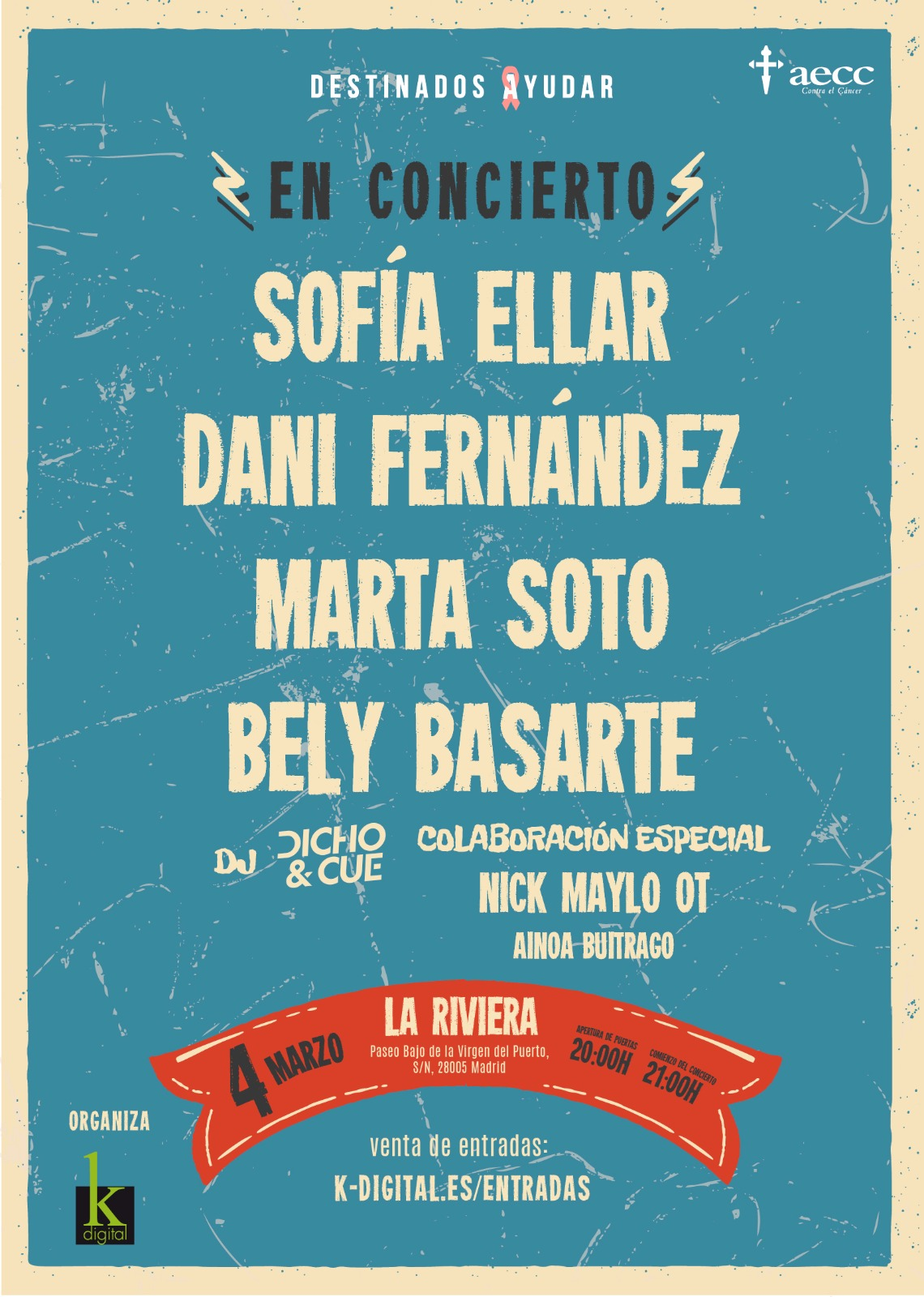 Bely Basarte + Sofía Ellar + Dani Fernández concert in Madrid