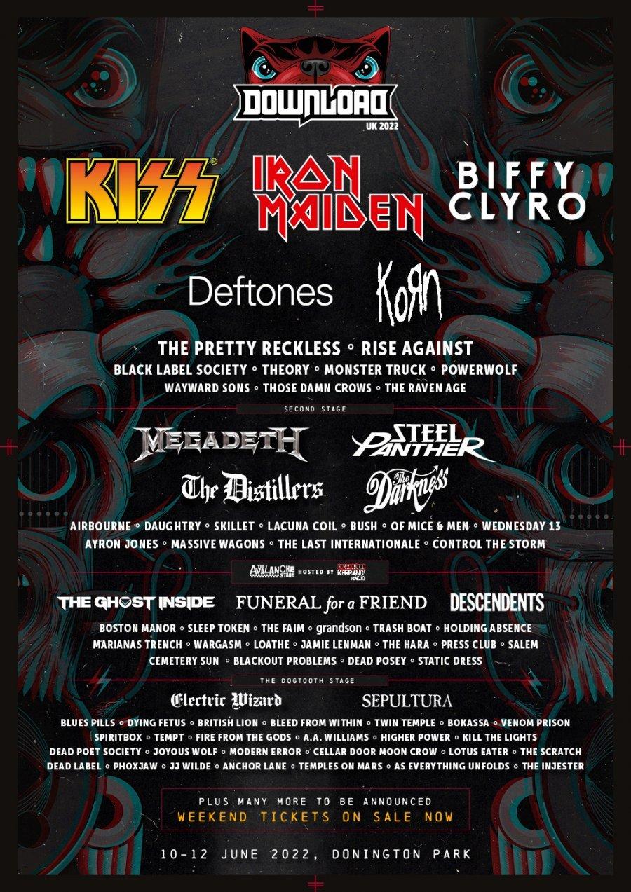 Download Festival Reino Unido 2022. Bilhetes, formação, bandas para Download  Festival Reino Unido 2022 | Wegow Brasil