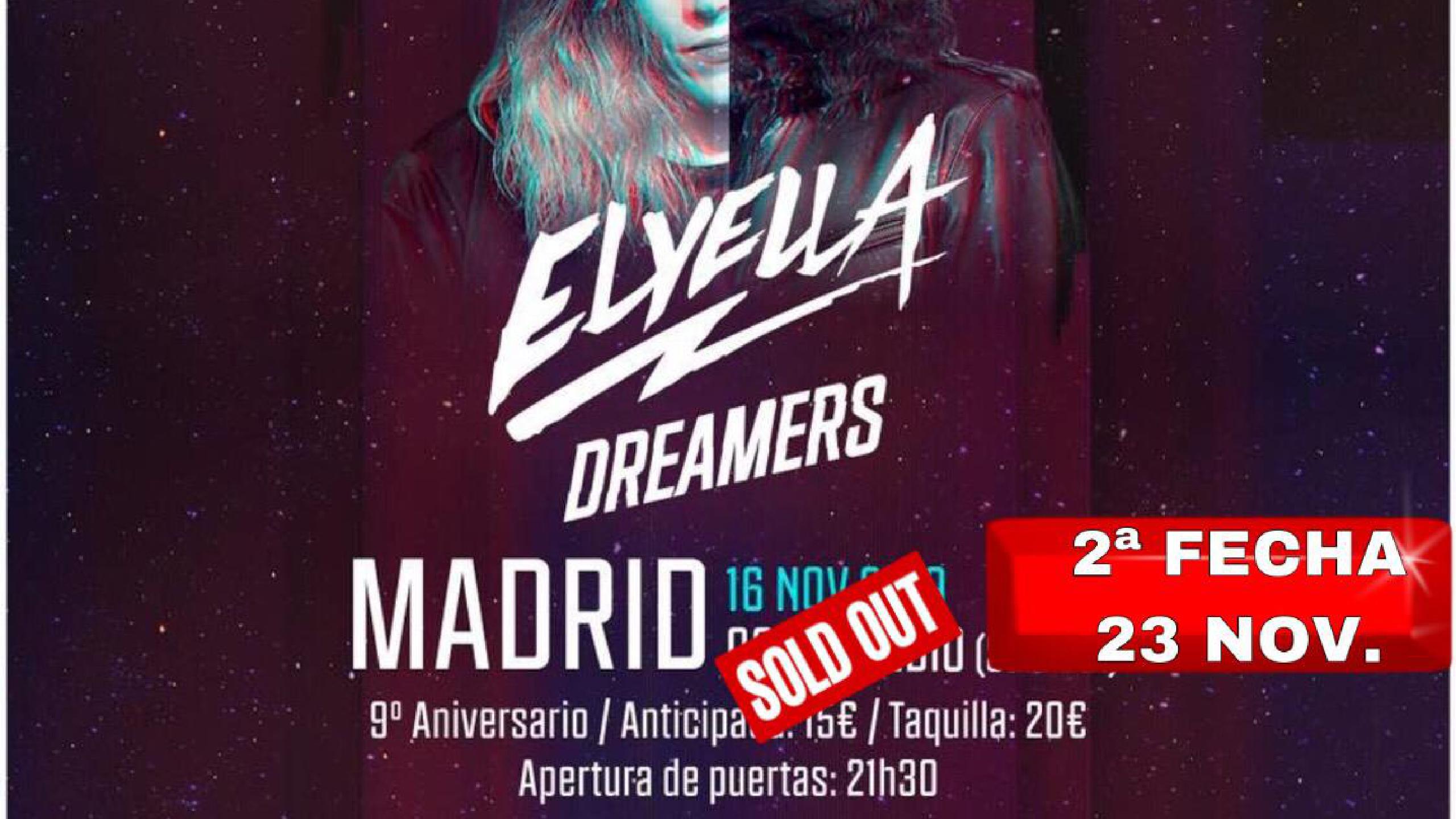 Elyella Concert Tickets For Ochoymedio Club Madrid Saturday 23