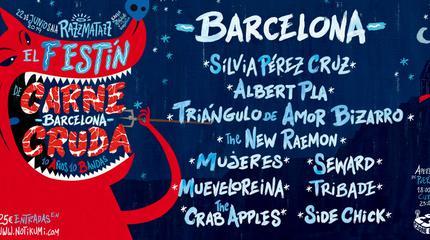 Festín de Carne Cruda en Barcelona. 10 años 10 bandas