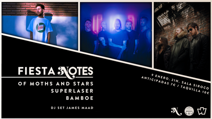 James Maad + Of Moths and Stars + Superlaser concert in Madrid