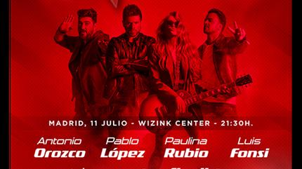 La Voz en concierto en Madrid