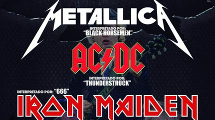 Metal Trío - Metallica, Ac/dc & Iron Maiden