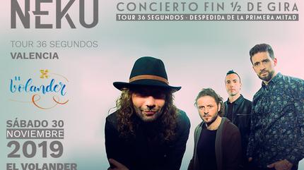 """Ñekü · Concierto """"Fin de la primera mitad de gira · Electroacústico con set list elaborado por el público."""