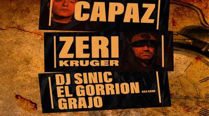 One Life Tour Capaz,Zeri Kruger,Dj Sinic,Goro y Grajo en Sala La Burbuja Castellon de la Plana.