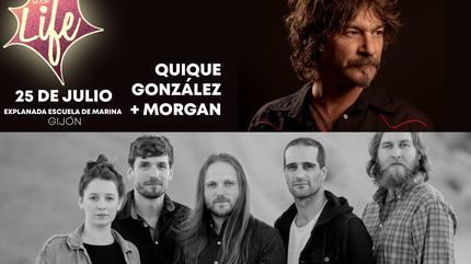 Quique González + Morgan  en Gijón Life