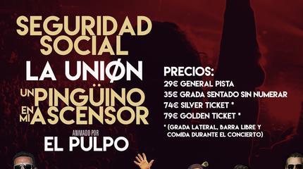 La Unión + Seguridad Social + Un Pingüino En Mi Ascensor concert in Madrid