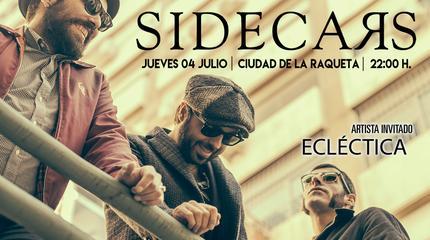 Sidecars en Madrid, concierto Especial X Aniversario Ciudad Raqueta