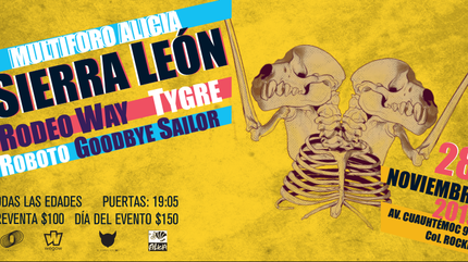 Sierra León, Rodeo Way, Tygre, Roboto y Goodbye Sailor en Foro Alicia