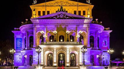 Alte Oper Frankfurt night