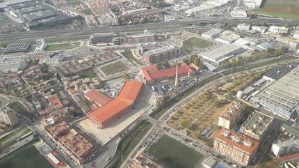 Imagen de la vista aérea de la Feria de Muestras de Armilla