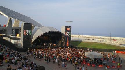 Foto del Parc del Fórum durante la celebración del Festival Cruilla.