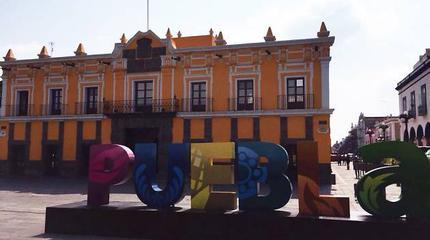 Imagen del teatro principal de Puebla