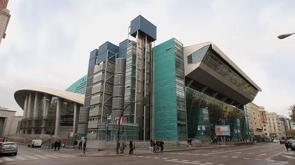 Fotografía del WiZink Center visto desde el exterior.