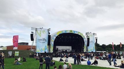 Iron Maiden concert in Belfast